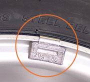 балансиращи тежести на гумите