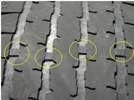 маркер за износване на гумите